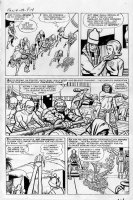 KIRBY, JACK - Fantastic Four #19 lrg pg 12, 1st Rama Tut/Kang ALL FF & powers Comic Art