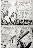 KIRBY, JACK & GEORGE TUSKA - Tales Of Suspense #73 pg 5, Captain America is hot on the trail of the Second Sleeper! Comic Art