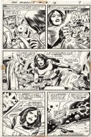 KIRBY, JACK - Mister Miracle #13 pg, Mr Miracle & Big Barda vs Nazi in space, 1973 Comic Art