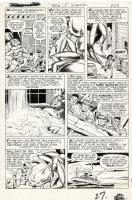 KIRBY, JACK / BILL EVERETT - Strange Tales #73 lrg last pg, Grottu! King of ants! prototype AntMan, 1st Ulysses Bloodstone 1960 Comic Art
