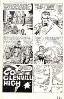 KIRBY, JACK - Fantastic Four #16 large pg 11, Reed & Ben, Human Torch flames - signed Comic Art