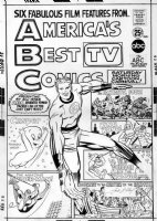 KIRBY, JACK - America's Best Comics 1967 2-up cover, Mr Fantastic Four, shows Jack' sig Comic Art