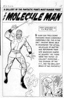 KIRBY, JACK - Fantastic Four Annual #2, 2-up Pinup Splash, Molecule Man + Human Torch & Thing Comic Art
