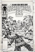 BYRNE JOHN / TERRY AUSTIN - Secret Wars #1 cover, virtually an X-Men cover by Byrne and Austin with the X-Men and New Mutants teams plus Magneto. Two key Avengers, Iron Man and Captain America Comic Art