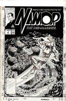 BYRNE, JOHN - Namor #7 craft-tint board cover, Submariner vs sea-monster Comic Art