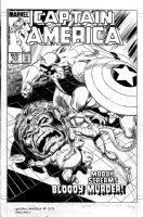 BYRNE, JOHN / AL WILLIAMSON - Captain America #313 cover, Cap, Modok vs Serpent Society 1986 Comic Art