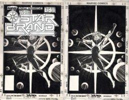 BYRNE, JOHN penciler & writer / TOM PALMER inker - Starbrand #11 cover, shown with original logo overlay  Comic Art