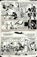 BYRNE, JOHN - Uncanny X-Men #142 pg 28, Kitty returns to present! X-Team & Mystique  Days of Future Past  concludes Comic Art
