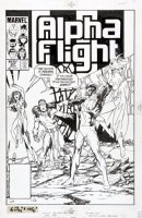 BYRNE, JOHN - Alpha Flight #27 cover, Snowbird, Shaman, Talisman vs Dark Guardian Comic Art