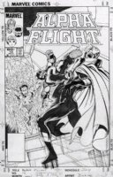 BYRNE, JOHN - Alpha Flight #16 cover, early Byrne Sub-Mariner, pre-Namor series Comic Art