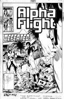 BYRNE, JOHN - Alpha Flight #26 cover, Team defeated by Omega Flight / Dark Guardian Comic Art