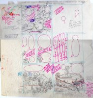 KURTZMAN, HARVEY - Playboy mag page - Little Annie Fannie in round bed - prelim B Comic Art