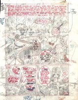 KURTZMAN, HARVEY - Playboy mag last page - Little Annie Fannie & Daddy - 3rd prelim Comic Art
