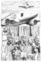 MANARA, MILO - X-Men: Ragazze in Fuga, X-Woman pg, Storm flies Storm & Psylocke seduce pilot Comic Art