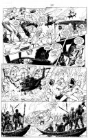 MANARA, MILO - X-Men: Ragazze in Fuga, X-Woman pg 25, Psylocke, Rogue, Storm, Kitty Pryde vs pirates, w/lettering Comic Art