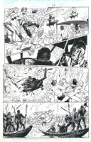MANARA, MILO - X-Men: Ragazze in Fuga, X-Woman pg 25, Psylocke, Rogue, Storm, Kitty Pryde vs pirates Comic Art