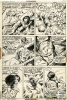 BUSCEMA, JOHN - Avengers #105 pg 17, Savage Land X-Men characters cross over Comic Art