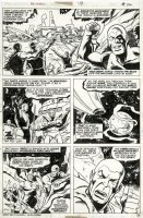 BUSCEMA, SAL / JOE STATON - Avengers #133 pg 26, Skrull and Origin of Kree Comic Art