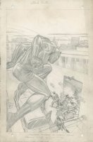 TUSKA, GEORGE ? - Black Panther pencil Splash, 1st failed to launch solo series 1968 Comic Art