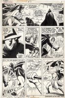 COCKRUM, DAVE - Avengers Giant-Size #3 pg 3, Celestial Madonna Saga, Mantis vs Midnight 1975 Comic Art