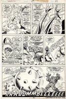 BROWN, BOB - Fantastic Four #154 pg 27, FF vs Nick Fury as mask, only 5 drawn pgs, 1974 Comic Art