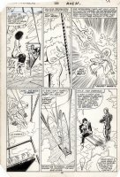 BUSCEMA, JOHN / TOM PALMER - Avengers #266 pg 19, Silver Surfer & Wasp, Capt Marvel vs Volcana & Miracle Man Comic Art