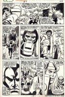 COCKRUM, DAVE - Avengers Giant-Size #3 pg 27, Celestial Madonna Saga, Thor & Vision vs Wonder Man, Human Torch, Frankenstein & Kang 1975 Comic Art