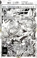 KANE, GIL P/I / MIKE GOLDEN layouts - DC' Web #10 cover, MLJ / Archie hero, w/ logo overlay Comic Art