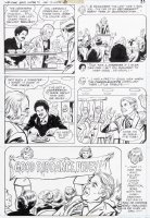 OKSNER, BOB / JACK SPARLING layouts - Welcome Back Kotter DC TV Comics #1 pg 13 - Gabe Kaplin & chearleaders Comic Art