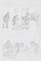 SPARLING, JACK - Welcome Back Kotter DC TV Comics #2 pencil pg 13 - Gabe Kaplin & full cast Comic Art