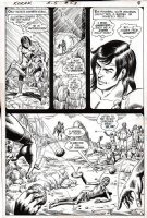 ANDERSON, MURPHY - Korak #53 DC pg 6, son of Tarzan, large panel of famine Comic Art