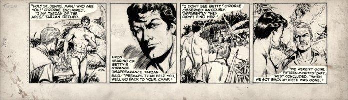 HOGARTH, BURNE / DAN BARRY - Tarzan daily #2841, Tarzan in jungle Comic Art