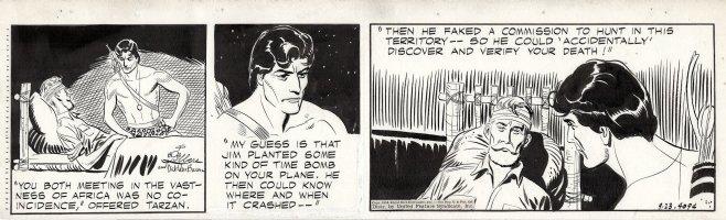 LUBBERS, BOB - Tarzan daily #4094, Tarzan and the Inheritance  Comic Art