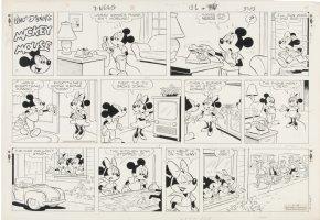 GONZALEZ, MANUEL - Mickey Mouse Sunday 11-10 1968 Comic Art