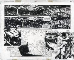 APTHORP, BRIAN / STAN WOCH - Batman: Shadow Of The Bat 1993 Annual #3 pgs 39 & 40, Batman vs Poison Ivy Comic Art