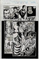 ZIRCHER, PATRICK - Iron Man v3 #16 pg 7, Tony Stark, Billy Yuan & Fin Fang Foom statue  1999 Comic Art
