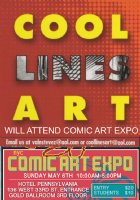 OOLLINESART's Rich, will set up at Comic Art Expo, NYC - May 6th, 2018 Comic Art