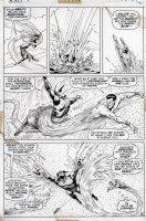 EVERETT, BILL - Submariner #52 pg 16, Subby vs Sunfire fight over ocean Comic Art