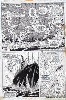 EVERETT, BILL - Submariner #52 pg 18, 3 panels - Subby vs Sunfire & tanker Comic Art