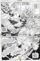 EVERETT, BILL - Submariner #52 pg 19 - Subby vs Sunfire fight under water Comic Art
