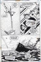 EVERETT, BILL - Submariner #52 pg 17, 3 panels - Subby vs Sunfire & tanker Comic Art