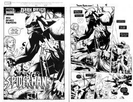 BACHALO, CHRIS - Dark Reign: Sinister Spider-Man #1 Variant Cover & semi-splash, Venom Comic Art
