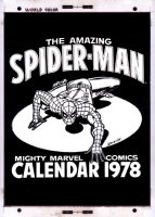ROMITA SR, JOHN - Marvel Superhero Calendar 1978 cover, Spider-Man Comic Art