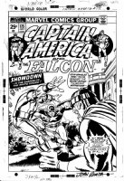 ROMITA, JOHN finishes / SAL BUSCEMA - Captain America #175 cover - conclusion to  Secret Empire  saga- ala Nixon suicide Comic Art