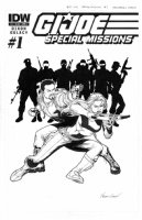 CHEN, SEAN - GI Joe Special Missions #1 IDW cover, Scarlet with crossbow + Team Comic Art