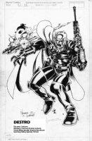MADUREIRA, JOE - GI Joe #130 Marvel insider cover, Destro 1992 Comic Art