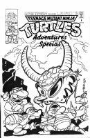 KNIGHT, MILTON - Teenage Mutant Ninja Turtles Adventures TV special cover, large-size 1993 Comic Art