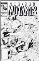 BUCKLER, RICH / BOB McLEOD - New Mutants #76 cover, Mutants & Sub Mariner Comic Art