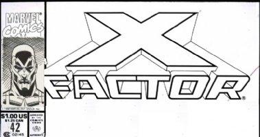 ADAMS, ART - X-Factor #42 alt. corner box art - Archangel 1989 Comic Art