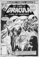 COLAN, GENE & TOM PALMER - Tomb Of Dracula #61 cover, Drac Domini & son Janus Comic Art